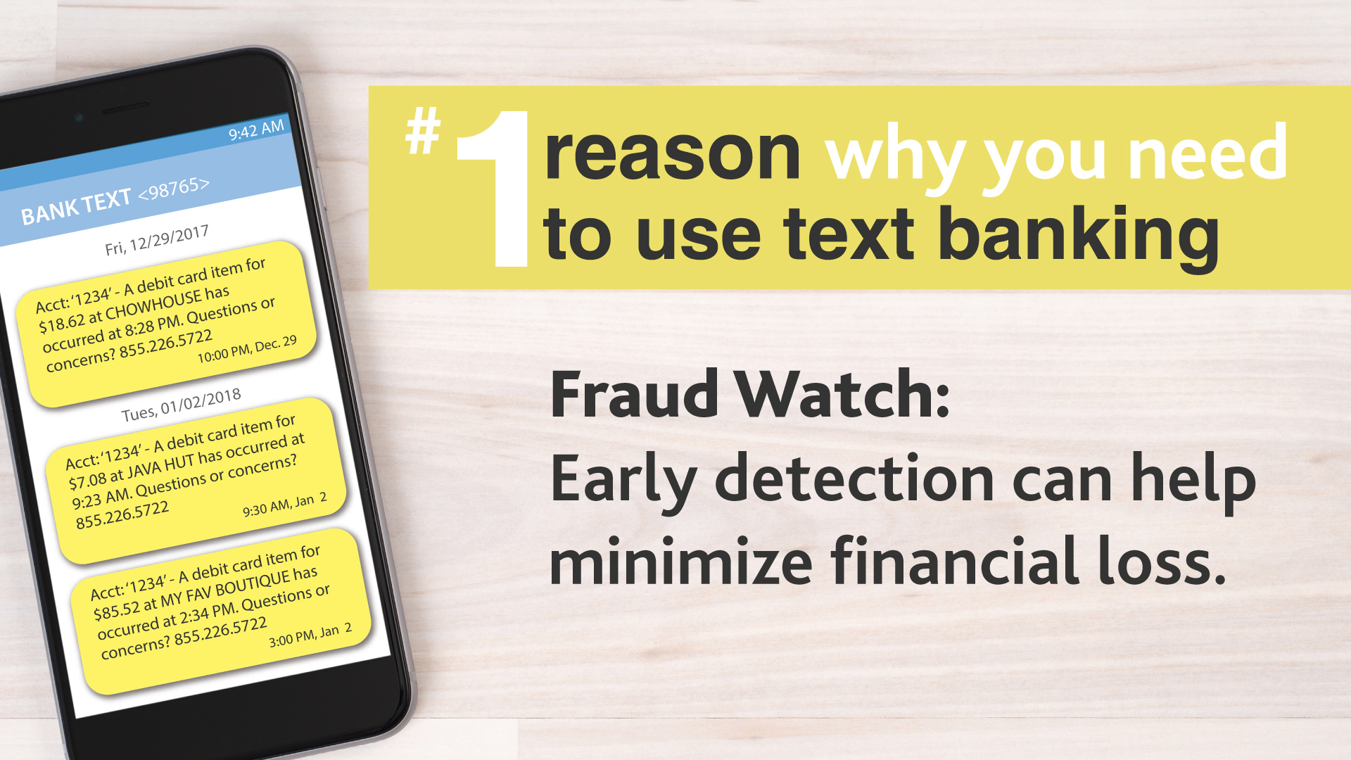 Id Theft Fraud Rcb Bank Wiring Money Precautions Phone And Text Banking Graphic