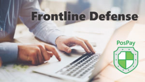 man typing at computer. Frontline Defense: PosPay
