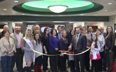 Ribbon cutting at the Coweta, Oklahoma branch