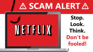 Netflix scam graphic
