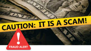 Caution: It is a scam graphic