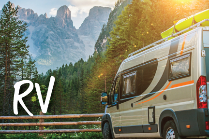 Loan promotion photo of an RV