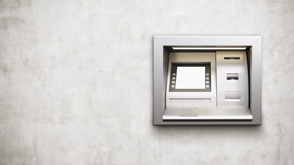 ATM on a wall