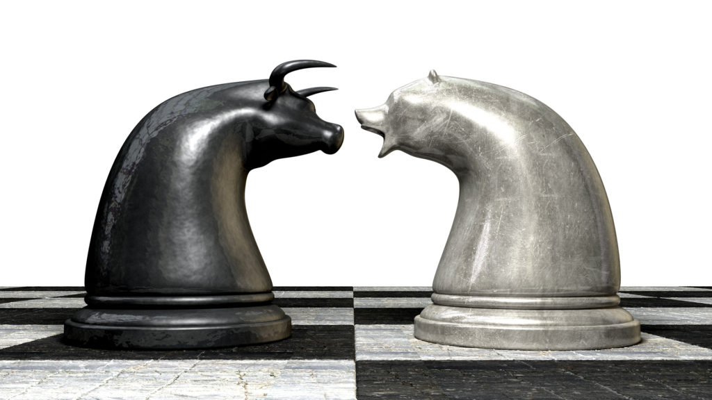 Bear and Bull Chess Pieces