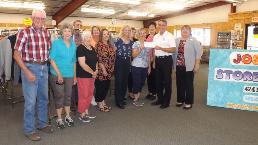 RCB Bank presents check to Joseph's Storehouse